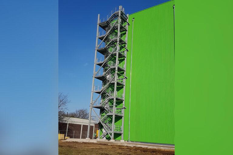 Metallbau Treppenturm
